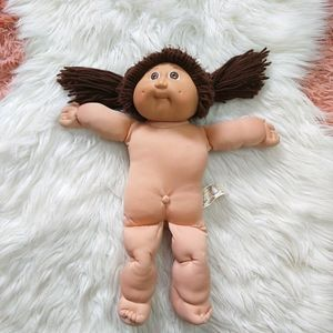 Vintage Cabbage Patch Doll 1985 Brown Hair